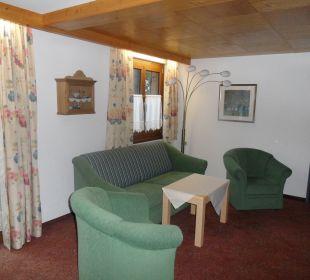 Wohnzimmer im Appartement Aparthotel Spitzer