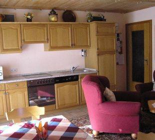 Wohnraum mit Küche Ferienwohnung Lettenmaier