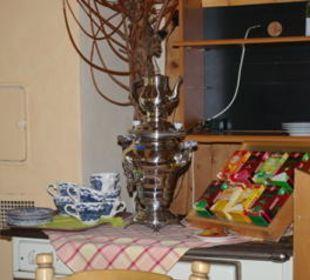 Samowar für Teewasser Gasthof Schwabenhof