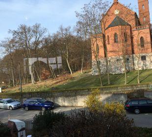 Blick beim Frühstück Hotel Wald und See