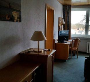 """""""Wohnzimmer"""" vom Eingangsbereich aus linke Seite Hotel Wald und See"""