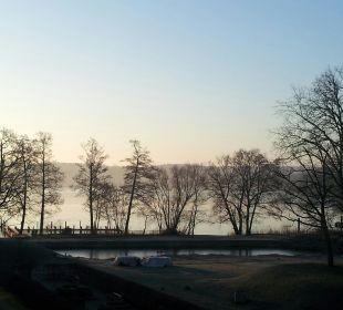 Blick auf den See am Morgen Kongresshotel Potsdam am Templiner See