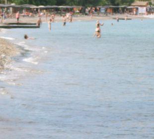 Der Strand um die Ecke Hotel Livadi Nafsika