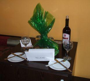 So wurden wir begrüßt Siam Elegance Hotels & Spa