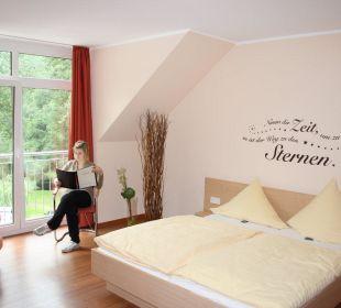 Die neuen Zimmer mit Blick in den Wald Hotel Heidsmühle