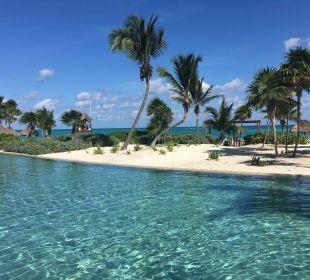 Poolaussicht Secrets Maroma Beach Riviera Cancun