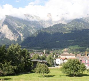 Blick aus dem Frühstücksaal Swiss Heidi Hotel