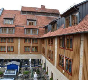 Ausblick zum Innenhof HKK Hotel Wernigerode