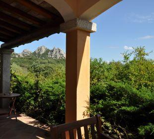 Blick von der Terrasse auf die Berge Hotel Parco Degli Ulivi