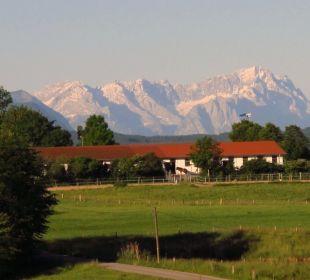 Ausblick vom Fenster Landhotel Hoisl-Bräu