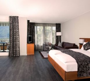 Junior Suite mit Balkon, Seeblick und Sitzecke Hotel Belvedere Locarno