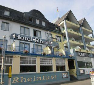Außenansicht Hotel Rheinlust