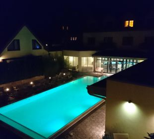 Ausblick zum Pool Ringhotel Zum Stein