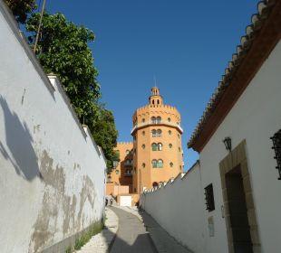 Steiler Anstieg von der Stadt Hotel Alhambra Palace