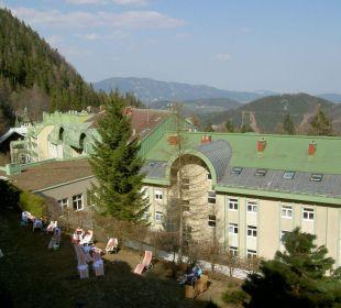 Blick aus der Honeymoon-Suite Hotel Panhans