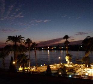 Sonnenuntergang vom Balkon Achti Resort Luxor