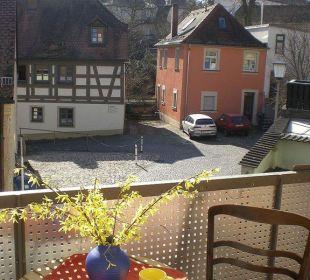 Balkonblick Apartment mitten in Bamberg