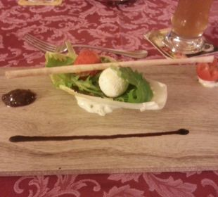 Köstlich zubereitete Speise Piccolo Hotel Obereggen