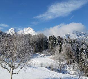 Blick vom Balkon Alm- & Wellnesshotel Alpenhof