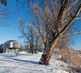 Winterlandschaft am Kongresshotel Potsdam Kongresshotel Potsdam am Templiner See
