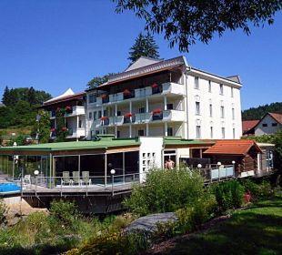 Hotel und Poolbereich Wohlfühlhotel Liebnitzmühle