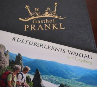 Zimmermappe am Genießerzimmer Gasthaus Prankl