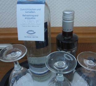 Preis vom Begrüßungswasser Hotel Ambiente (Hotelbetrieb eingestellt)