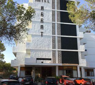 Hotel vom Haupteingang Hotel Abrat