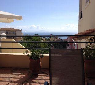 Auf der Terrasse Hotel Corfu Pelagos