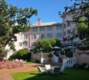 Blick auf die Terrasse Belmond Mount Nelson Hotel