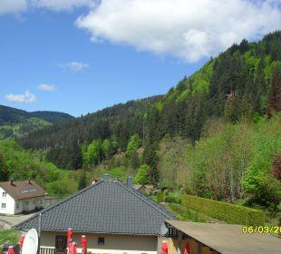 Blick aus dem Fenster Hotel Waldeck