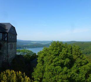 Blick vom Hotelzimmer Auf Edersee Hotel Schloss Waldeck