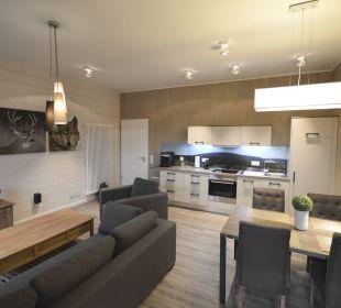 Appartement 11 - Wohnzimmer Stadt Chalet