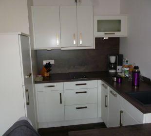 Ein Blick ind die Küche Aparthotel Duhner Strandhus
