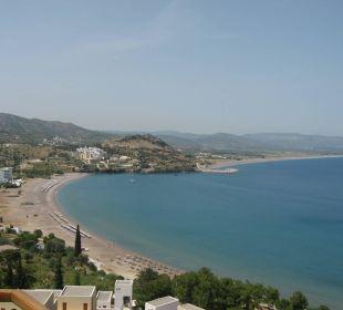 Vue de la baie, de la chambre Hotel Lindos Blu