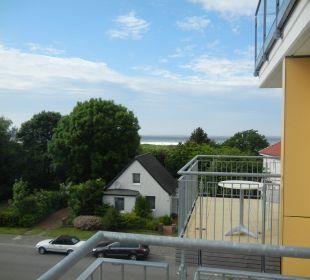 Balkon (leider ohne Windschutz) Aparthotel Duhner Strandhus