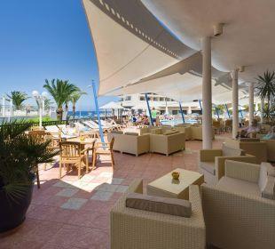Terrasse Blick vom Eingang Hotel Osiris