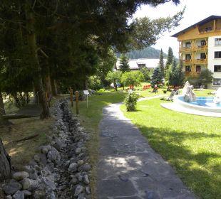 Gartenanlage Hotel Pulverer