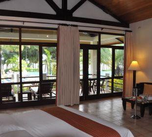 Blick auf die Terrasse Henann Resort