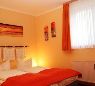 Wohnbeispiel kleines Doppelzimmer Villa Strandkorb Hotel Garni
