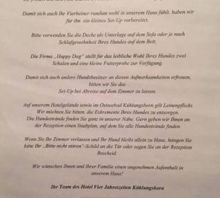 Mehr Service geht nicht Vier Jahreszeiten Kühlungsborn -  Hotel
