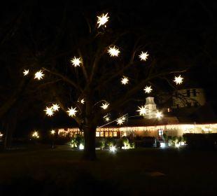 Weihnachtsstimmung vor dem Hotel Seehotel Rust