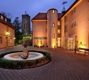 Innenhof Burghotel Staufeneck