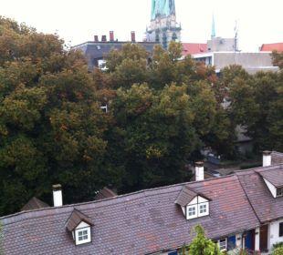 Вид из окна номера отеля в Ulm Comfor Hotel Frauenstrasse