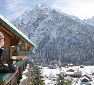 Schöne Aussichten von der Terrasse Der Kleinwalsertaler Rosenhof