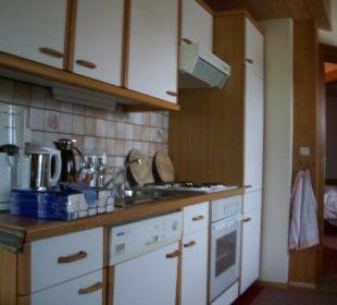 Küchenzeile der Giebelwohnung Haus Elisabeth