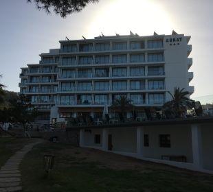 Hotel von hinten außen Hotel Abrat