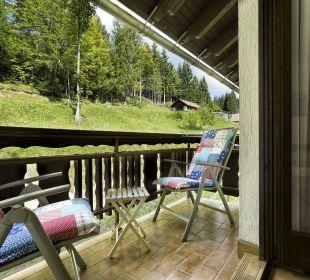Balkon mit Gartenblick BergPension Lausegger