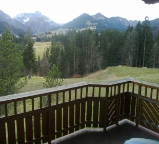 Blick vom DZ-Balkon Hotel Bellevue