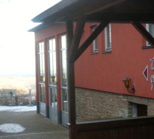 Toller Ausblick über Thale von der Terrasse AKZENT Berghotel Rosstrappe